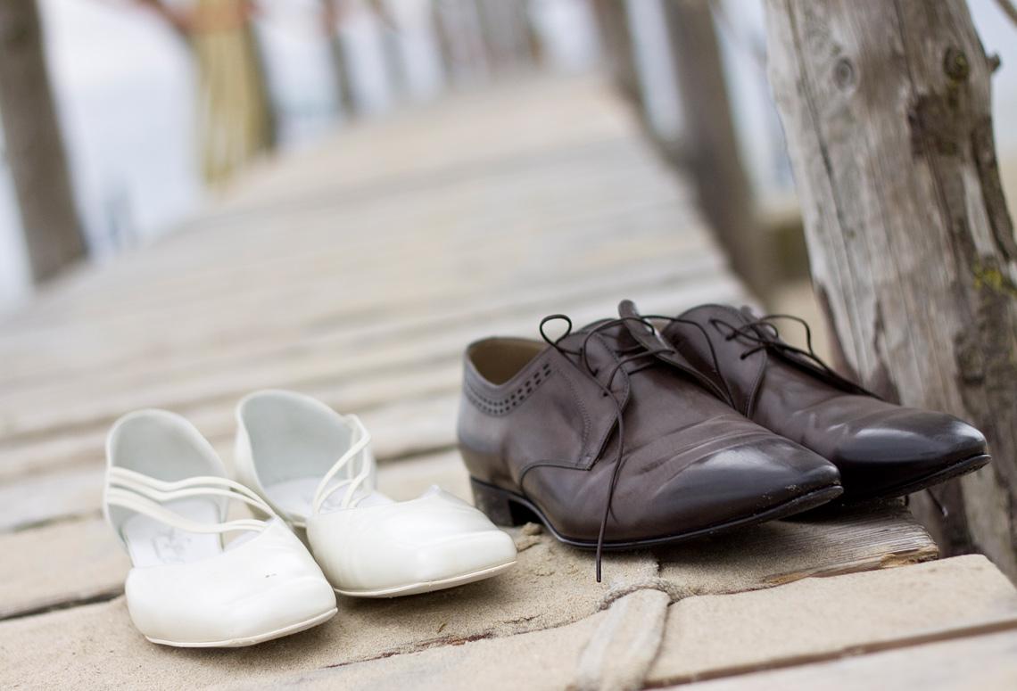 Trouwreportage op blote voeten